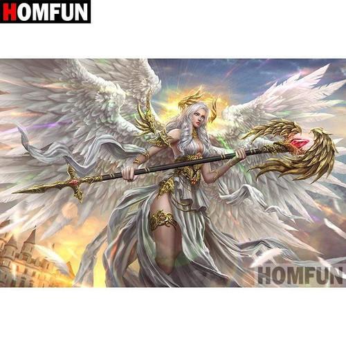 5D Diamond Painting Golden Wing Angel Warrior Kit