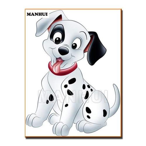 5D Diamond Painting Cartoon Dalmatian Puppy Kit