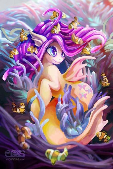 5D Diamond Painting Fluttershy Mermaid Pony Kit