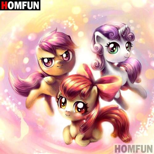 5D Diamond Painting Princess Pony Magic Kit
