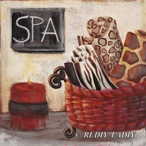 5D Diamond Painting Basket of Spa Towels Kit