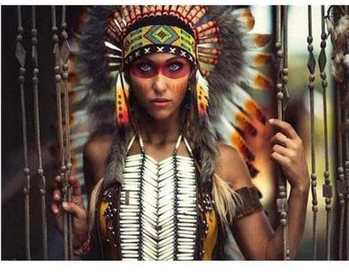 5D Diamond Painting Indian Woman Warrior Kit