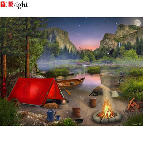 5D Diamond Painting Red Tent Camping Kit