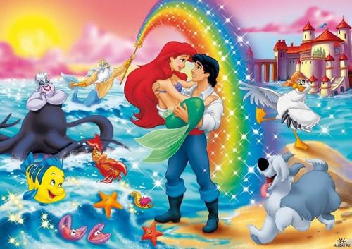 5D Diamond Painting Ariel and Eric Rainbow Kit