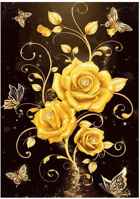 5D Diamond Painting Yellow Roses Kit