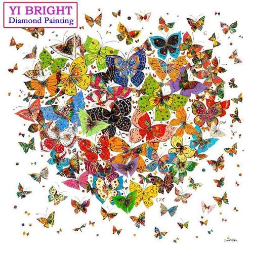 5D Diamond Painting Heart of Butterflies Kit