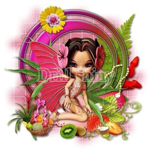 5D Diamond Painting Fruit Fairy Kit