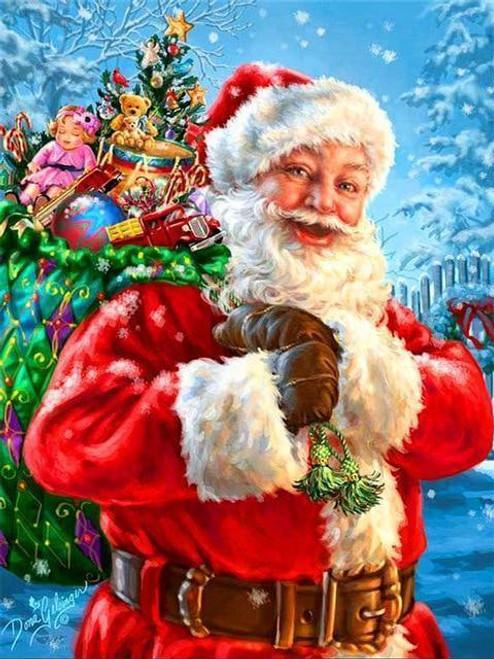 5D Diamond Painting Santa's Bag of Toys Kit