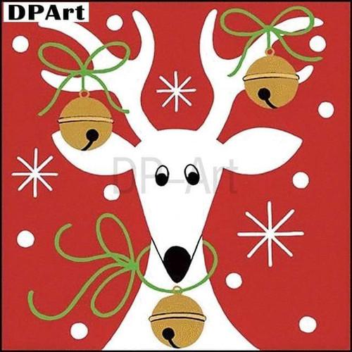 5D Diamond Painting Jingle Bells Reindeer Kit