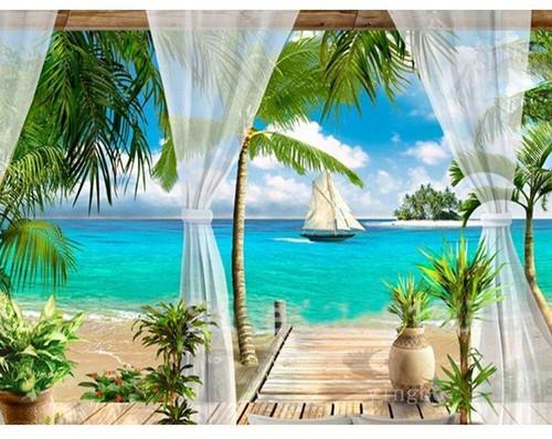 5D Diamond Painting Caribbean Vacation Kit