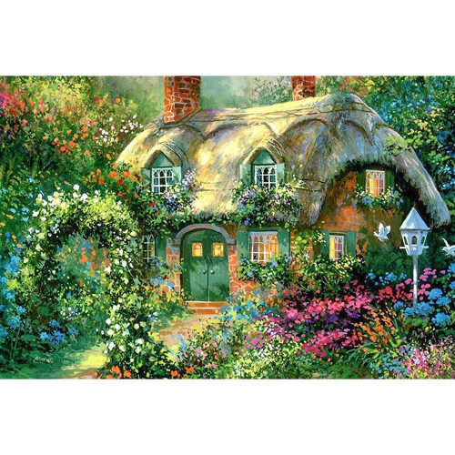 5D Diamond Painting Hidden Cottage in the Woods Kit