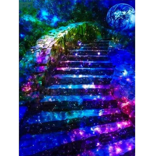 5D Diamond Painting Galaxy Staircase Kit