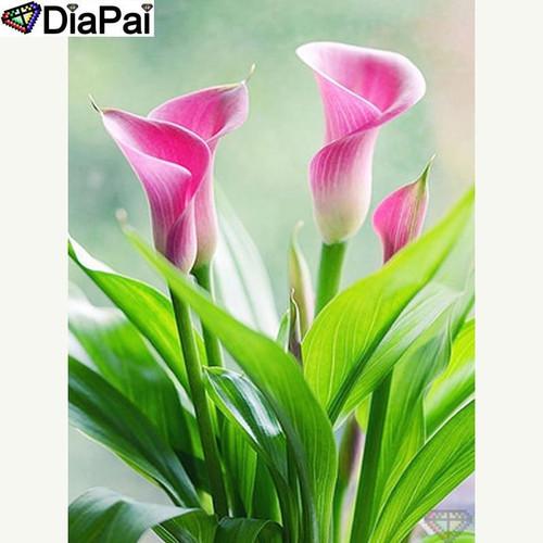 5D Diamond Painting Pink Calla Lilies Kit