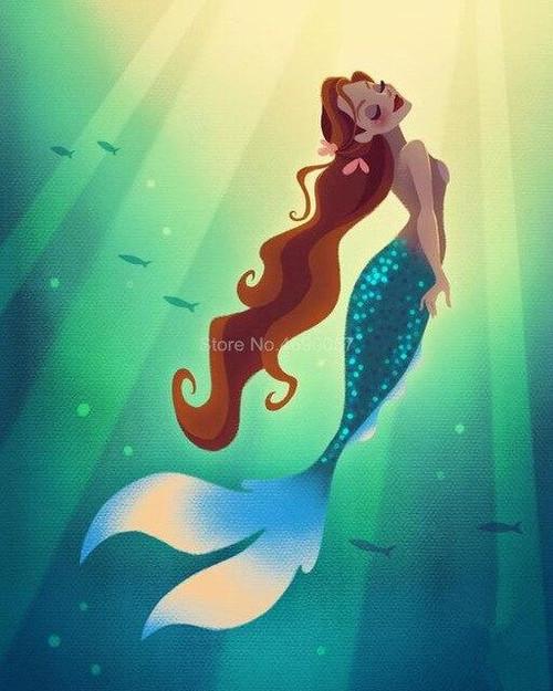 5D Diamond Painting Floating Sun Mermaid Kit