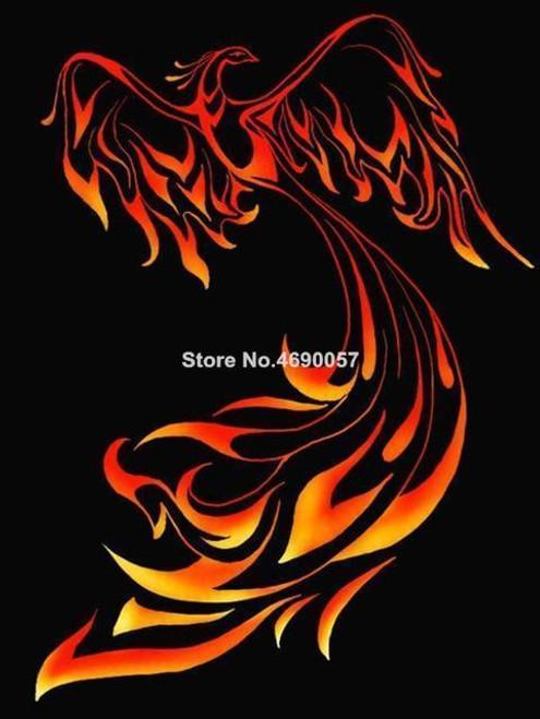 5D Diamond Painting Flying Fire Phoenix Kit