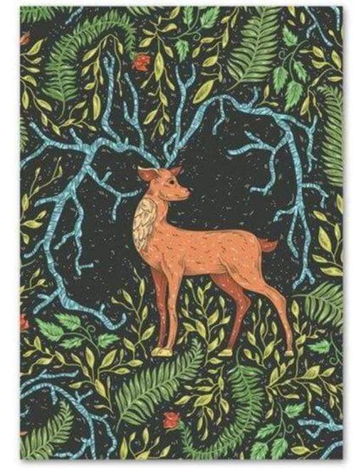 5D Diamond Painting Abstract Deer in Leaves Kit