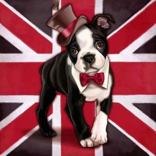5D Diamond Painting United Kingdom Flag Dog Kit