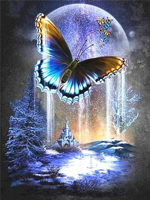 5D Diamond Painting Butterfly Planet Kit