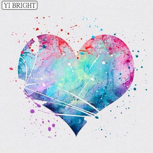 5D Diamond Painting Pastel Painting Heart Kit