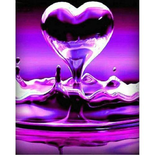 5D Diamond Painting Purple Liquid Heart Kit