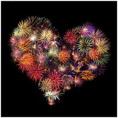 5D Diamond Painting Fireworks Heart Kit