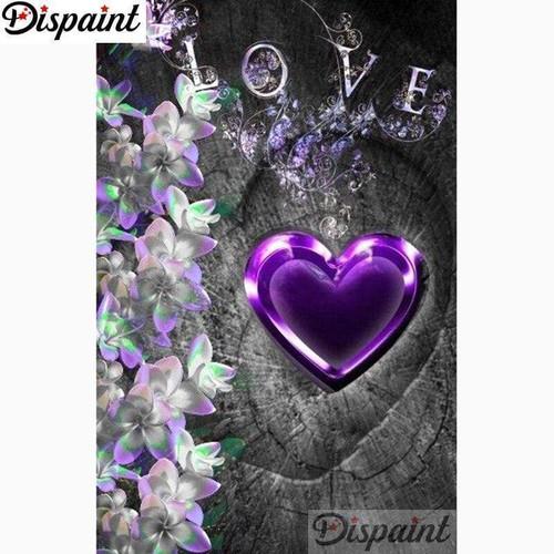 5D Diamond Painting Purple Heart Love Kit