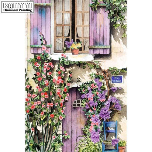 5D Diamond Painting Lavender Door & Shutters Kit