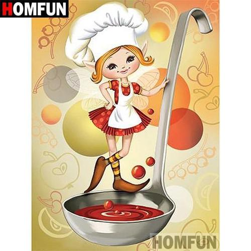5D Diamond Painting Marinara Chef Fairy Kit