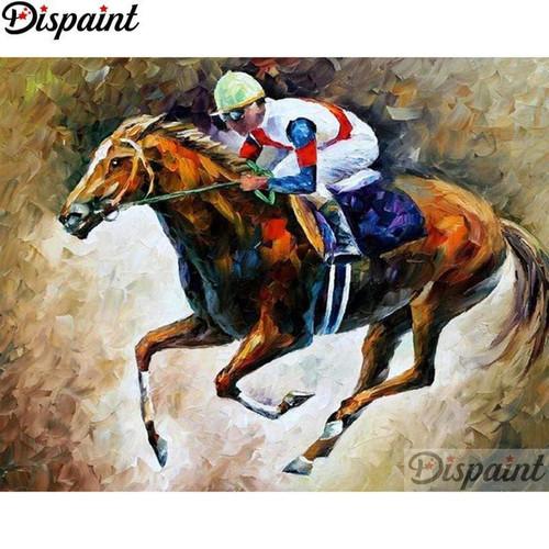 5D Diamond Painting Race Horse and Jockey Kit