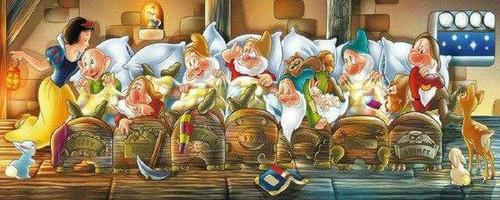 5D Diamond Painting Snow White & The Seven Dwarfs Bedtime Kit