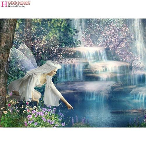 5D Diamond Painting White Fairy Falls Kit