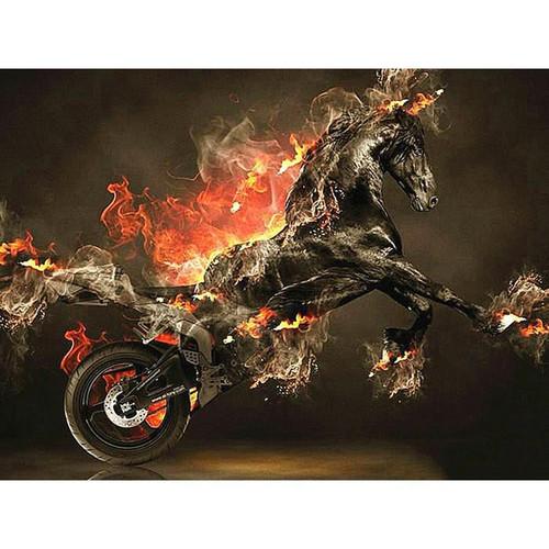 5D Diamond Painting Fiery Horse Power Kit