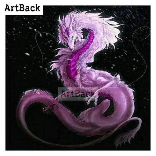 5D Diamond Painting Pink & Purple Dragon Kit