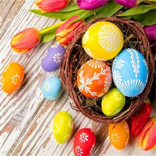 5D Diamond Painting Easter Eggs and Tulips Kit