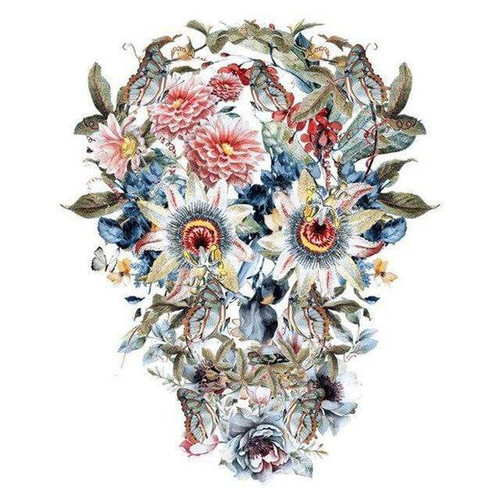 5D Diamond Painting Flower Eye Skull Kit