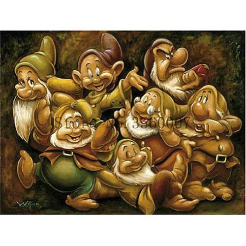 5D Diamond Painting Portrait of the Seven Dwarfs Kit