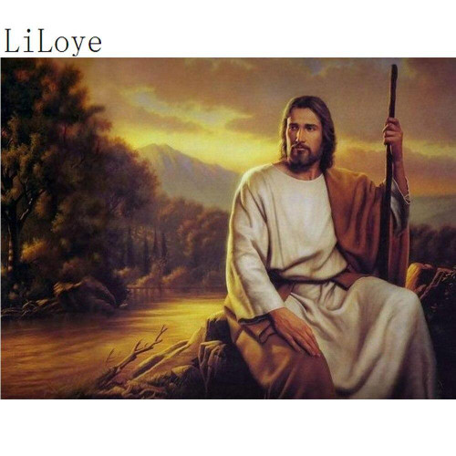 5D Diamond Painting Jesus in the Sunset Kit
