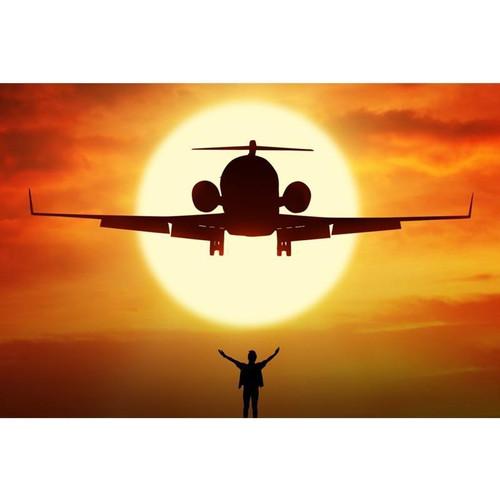 5D Diamond Painting Airplane Sunset Silhouette Kit