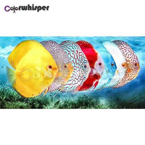 5D Diamond Painting Seven Tropical Fish Kit