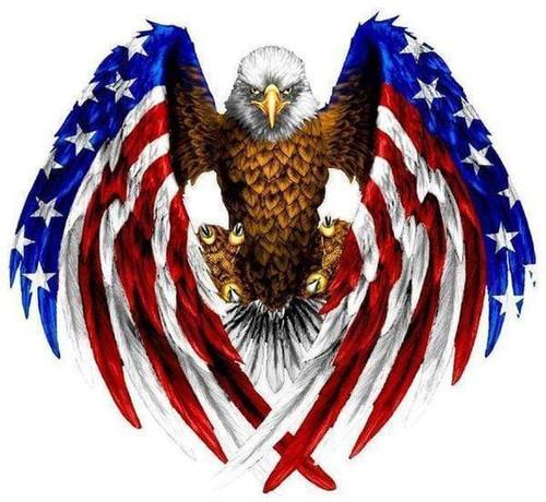 5D Diamond Painting American Flag Eagle Kit