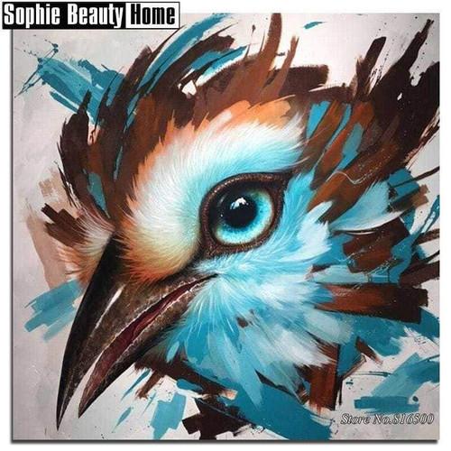 5D Diamond Painting Abstract Bird Eye Kit