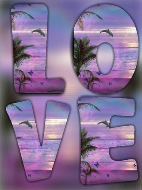 5D Diamond Painting Dolphin Sunset Love Kit