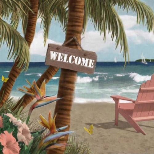 5D Diamond Painting Palm Tree Welcome Kit