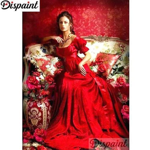 5D Diamond Painting Red Dress Woman Kit