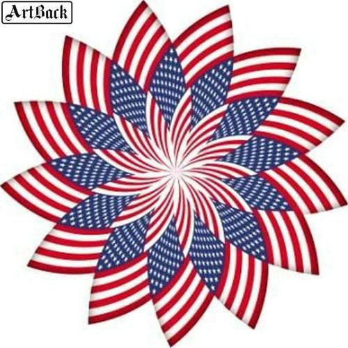 5D Diamond Painting American Flag Pin Wheel Kit