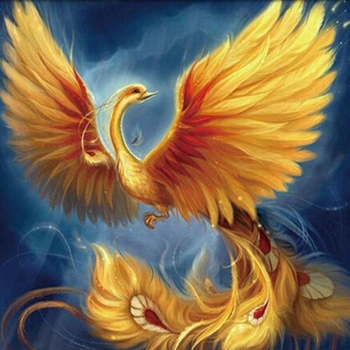 5D Diamond Painting Yellow Phoenix Kit