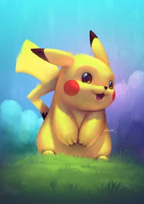 5D Diamond Painting Pikachu in the Grass Kit