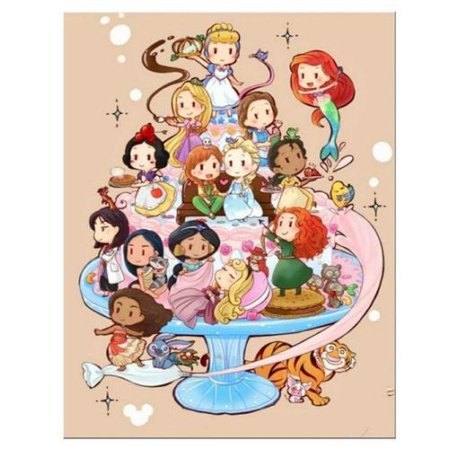 5D Diamond Painting Cartoon Princesses Kit