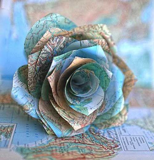 5D Diamond Painting Map Rose Kit
