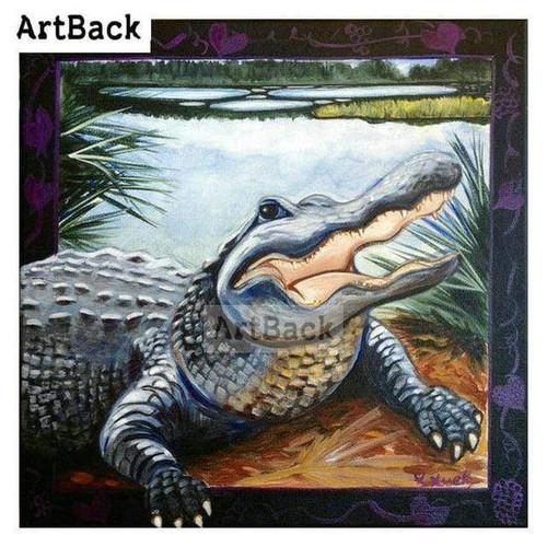 5D Diamond Painting Alligator Escape Kit